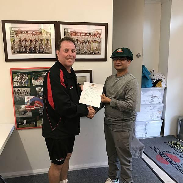Overseas student Sohail Khan receiving his certificate