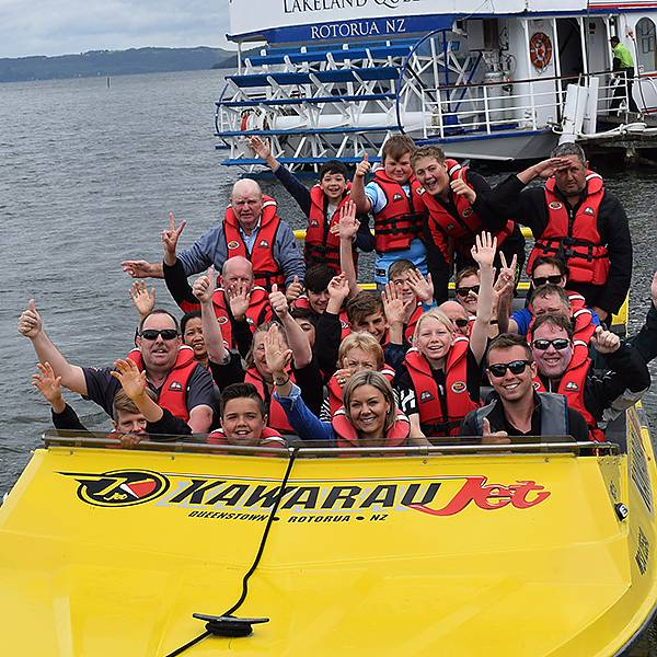 Jet boating on lake Rotorua